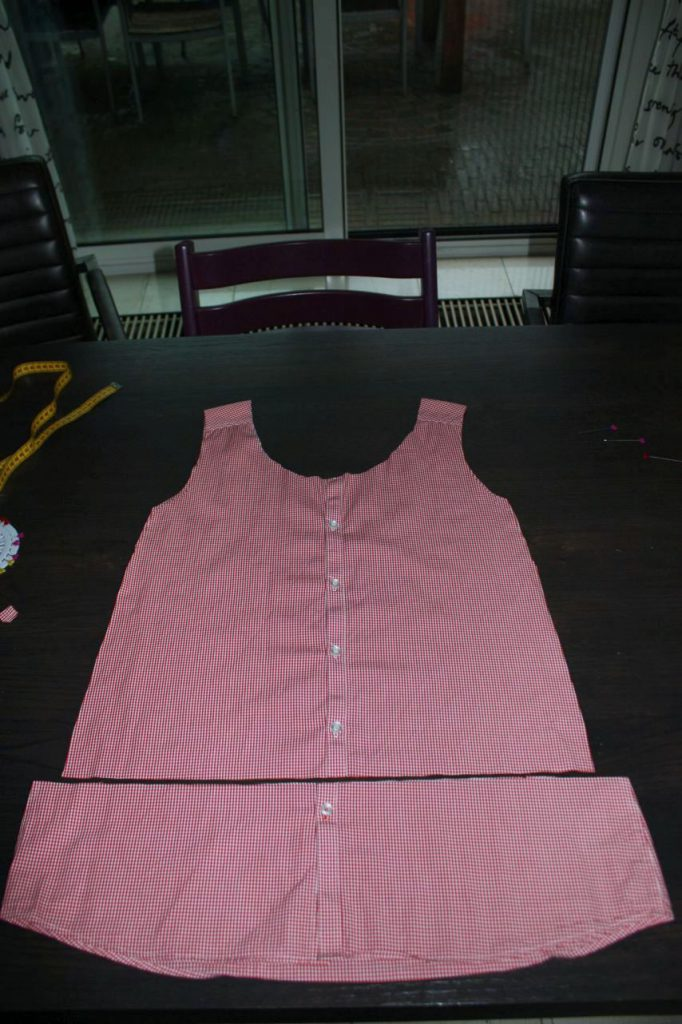DIY men's shirt to top (10)