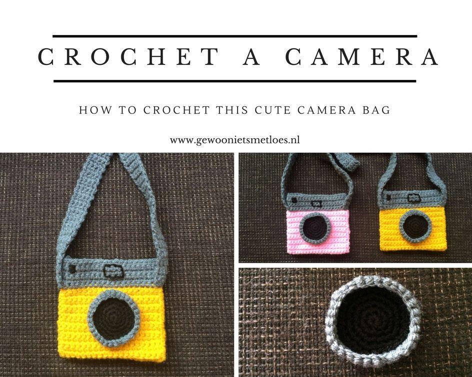 how to crochet a camera