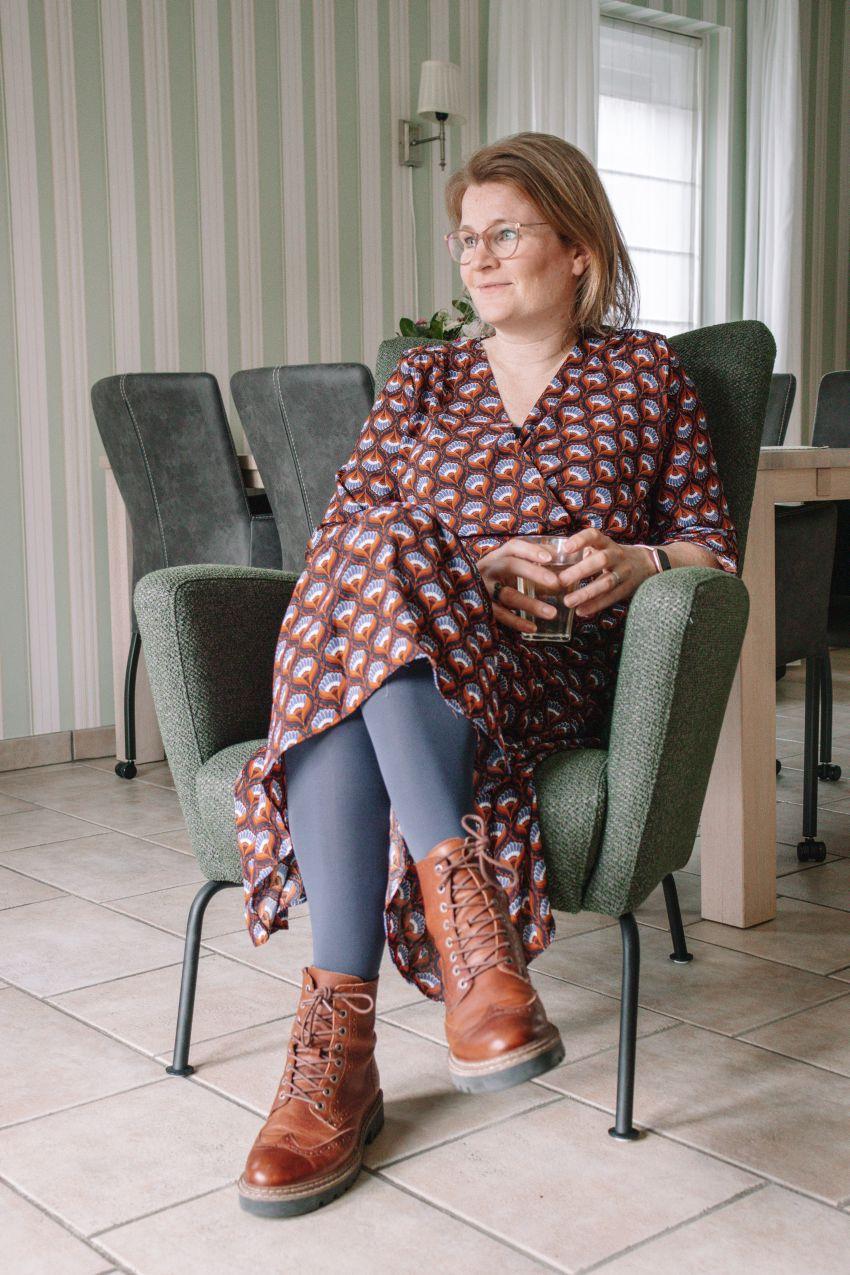 fashion by fleur jurk met print YEHAWANG